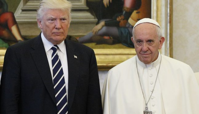 Pope Francis out-of-bounds in saying Trump is not a good Christian